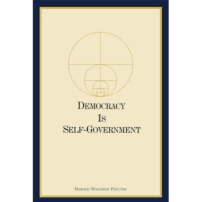 Democracy Is Self-Government Softcover book (240 pp.)