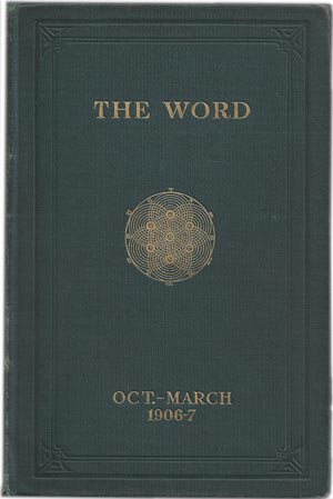 The Word Magazine cover, October - March, 1906